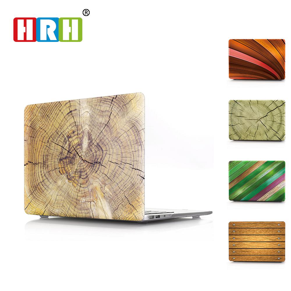 [해외]HRH 목재 질감 노트북 본체 셸 MacBook Pro 용 보호 하드 케이스 슬리브 Retina13 12 15 Air 13 11 New Pro 터치 바 13 15/HRH Wood Texture Laptop Body Shell Protective Hard Case