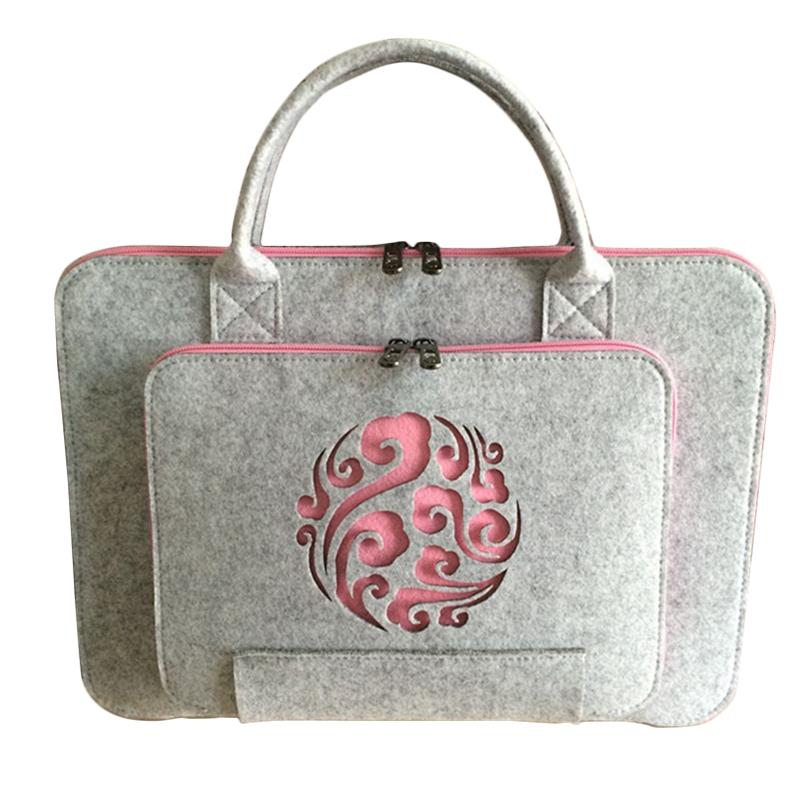 [해외]유니버설 모직 펠트 노트북 가방 맥 11 13 15 17 맥 가방 에어 프로 레티 나 남자 여성 노트북 슬리브 케이스에 대한 서류 가방 서류 가방/Universal Wool Felt Laptop Bag For Mac 11 13 15 17 Hand Bags Bri