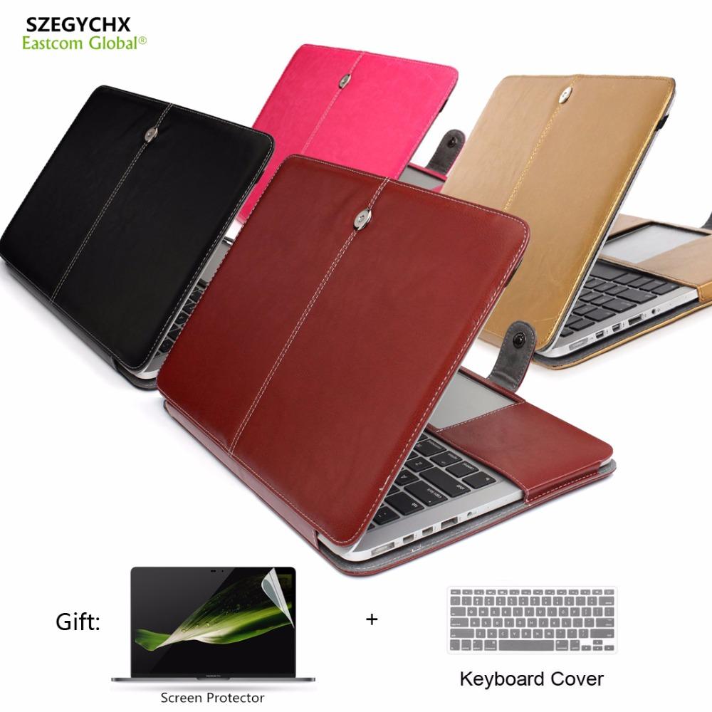 [해외]SZEGYCHX PU 가죽 스탠드 노트북 커버 케이스 맥북 에어 13 프로 13 레티나 13 13.3 인치 슬리브 럭셔리 노트북 가방 & amp; 사례/SZEGYCHX PU Leather Stand Laptop Cover Case For Macbook A