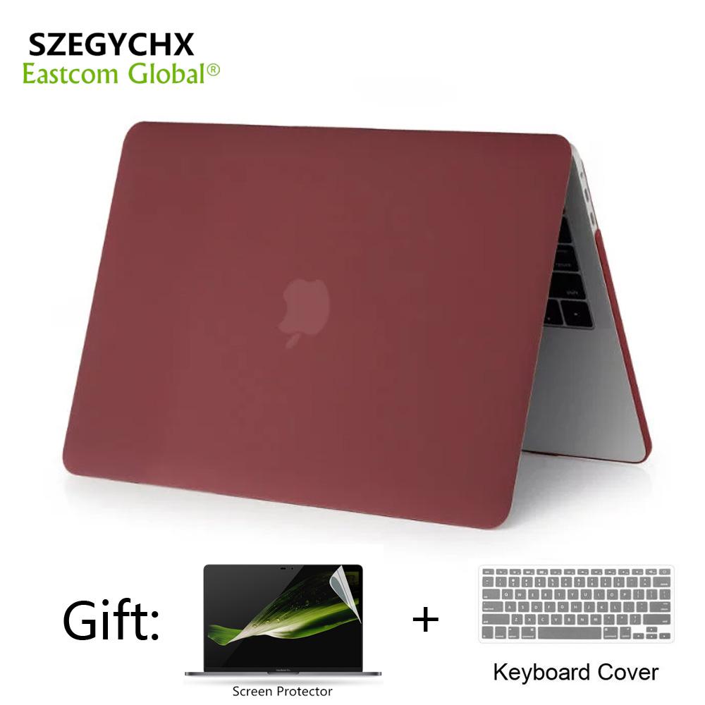 [해외]무광택 MacBook Air Pro Retina 11 12 13.3 15 Apple MacBook New Pro 13 15 인치 터치 바/Matte Frosted Full Laptop Case For MacBook Air Pro Retina 11 12 13.3