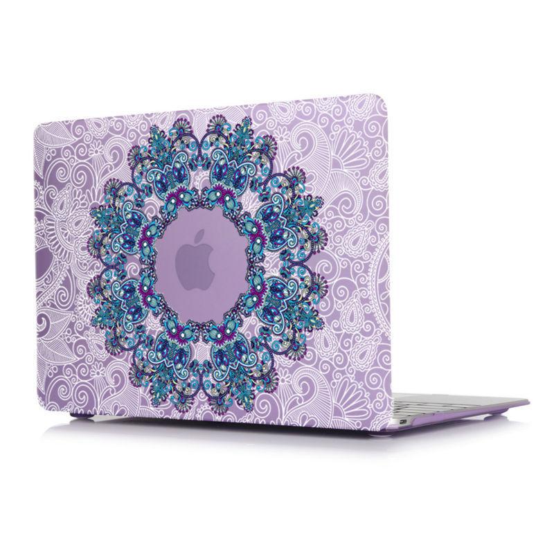 [해외]만다라 & amp; 플로랄 페이즐리 매트 케이스 애플 용 맥북 프로 13 15 터치 바 레티 나 12 에어 13.3 11.6 노트북 가방 A1706 A1707 A1502/Mandala & Floral Paisley Matte Case For App