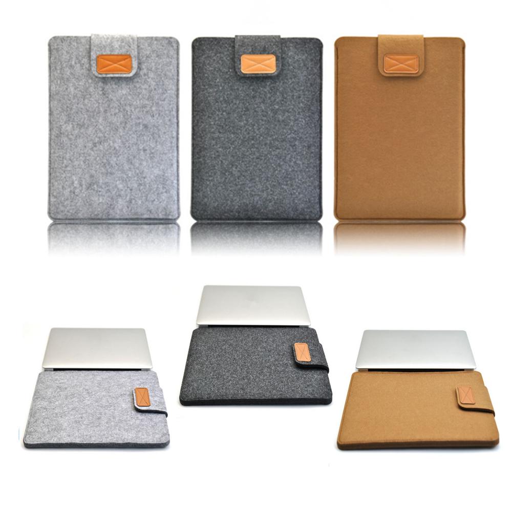 [해외]2017 Hasp 브랜드 뉴 펠트 비즈니스 가방 Macbook Air 11.6 용 노트북 소프트 새 커버 케이스 Air 13.3 Pro 15.4 고귀한 컴퓨터 서류 가방/2017 Hasp Brand New Felt Business Bag Laptop Soft N