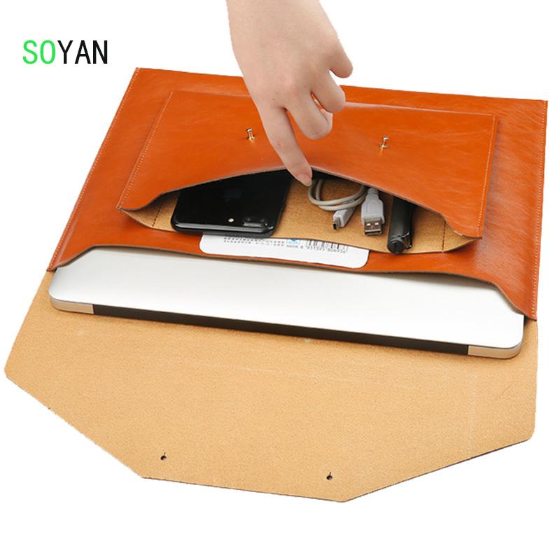 [해외]노트북 가방 마이크로 화이버 가죽 부드러운 슬리브 가방 케이스 애플 맥북 에어 프로 레티 나 11 12 13 맥북 13.3 인치 울트라 북 가방/laptop bag Microfiber Leather Soft Sleeve Bag Case For Apple Macb