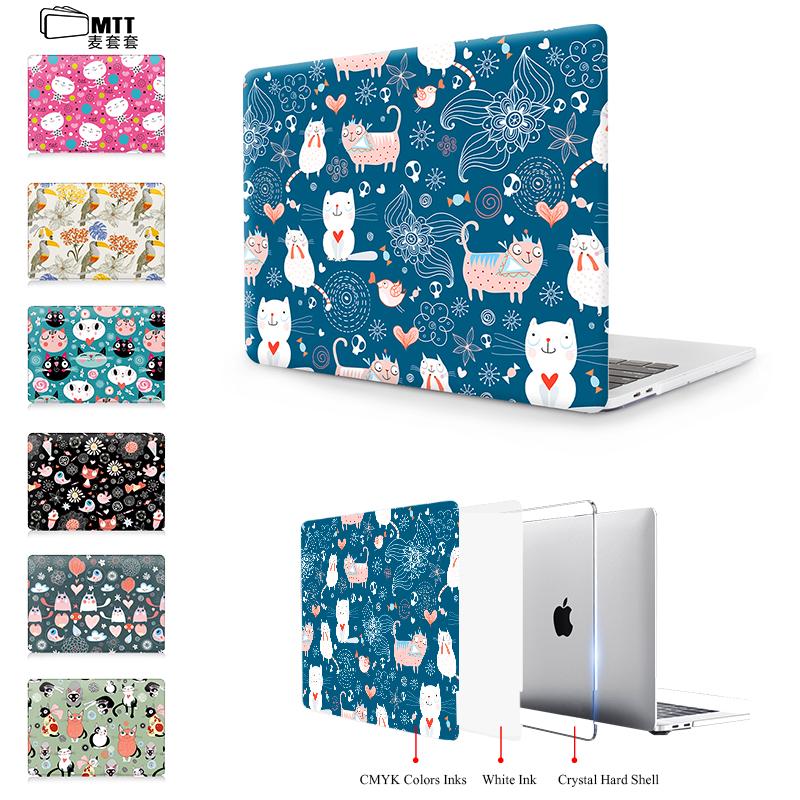[해외]MTT 새끼 고양이 조류 곰 동물 일러스트 레이션 New 2017 Apple Macbook Pro 13 15 Retina Touch Bar Air 11 12 13 노트북 가방 케이스/MTT Kitten bird bear animal illustration Cas