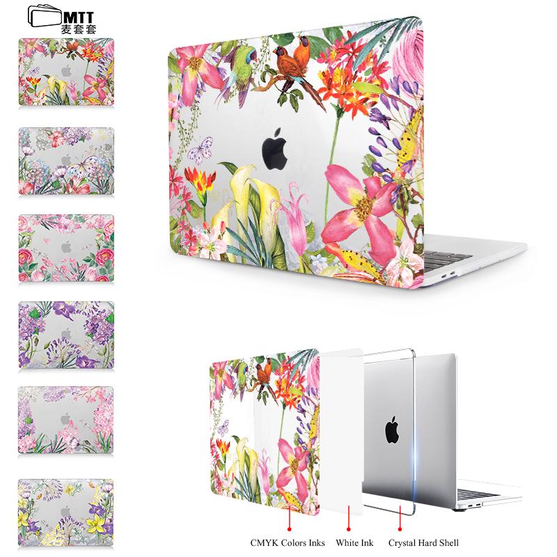 [해외]MTT 지우기 크리스탈 케이스 맥북 프로 13 15 레티 나 12 인치 터치 바 수채화 꽃 노트북 가방 커버 맥북 에어 13 케이스/MTT Clear Crystal Case For macbook Pro 13 15 Retina 12 inch Touch Bar Wa