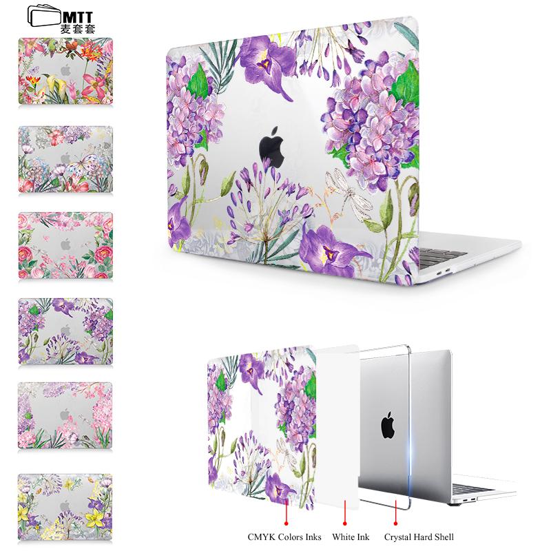 [해외]MTT 인쇄 라벤더 취소 크리스탈 커버 애플 맥 도서 공기 13.3 11 인치 노트북 가방 케이스 맥북 프로 13 15 케이스 터치 바/MTT Print Lavender Clear Crystal Cover for Apple Mac book Air 13.3 11