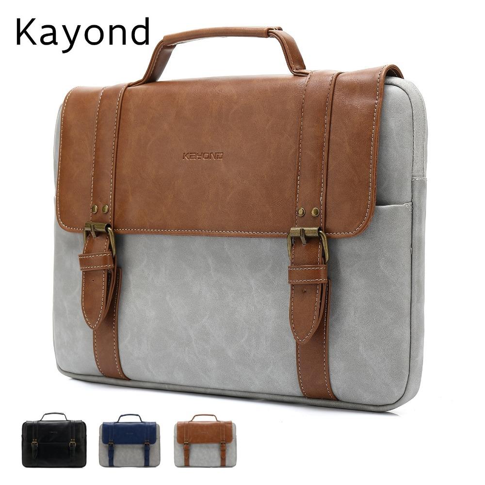 [해외]2017 최신 브랜드 Kayond Leather 핸드백 백 13 & & 14 & 15 & 15.6 inch, MacBook Air 용 케이스, Pro 13.3 & 15.4 &/2017 Newest Brand Kayond