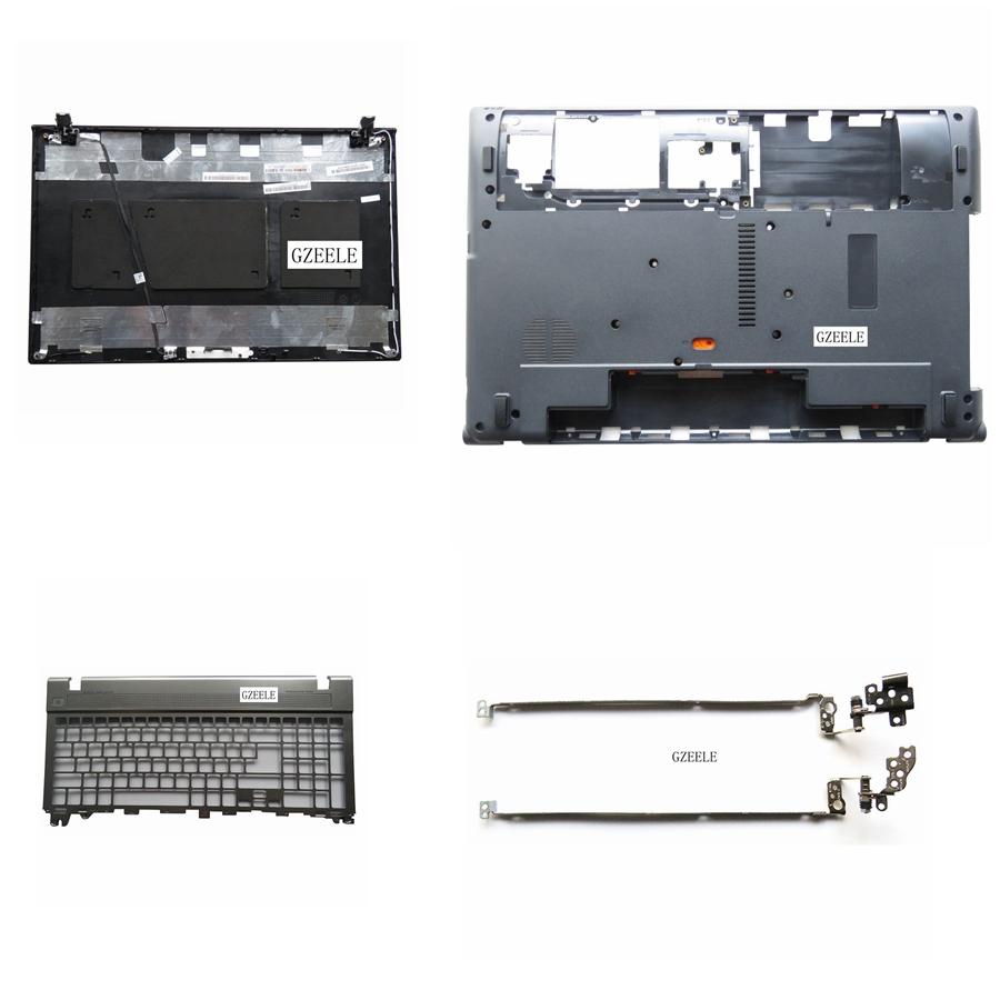 [해외]GZEELE Acer Aspire V3-571G V3-551 V3-571 V3-531 Bottom Base Case 커버 도어 및 손목 받침대 키보드 & 상단 LCD 뒷면 커버 & amp; LCD 경첩/GZEELE For Acer Aspire V3