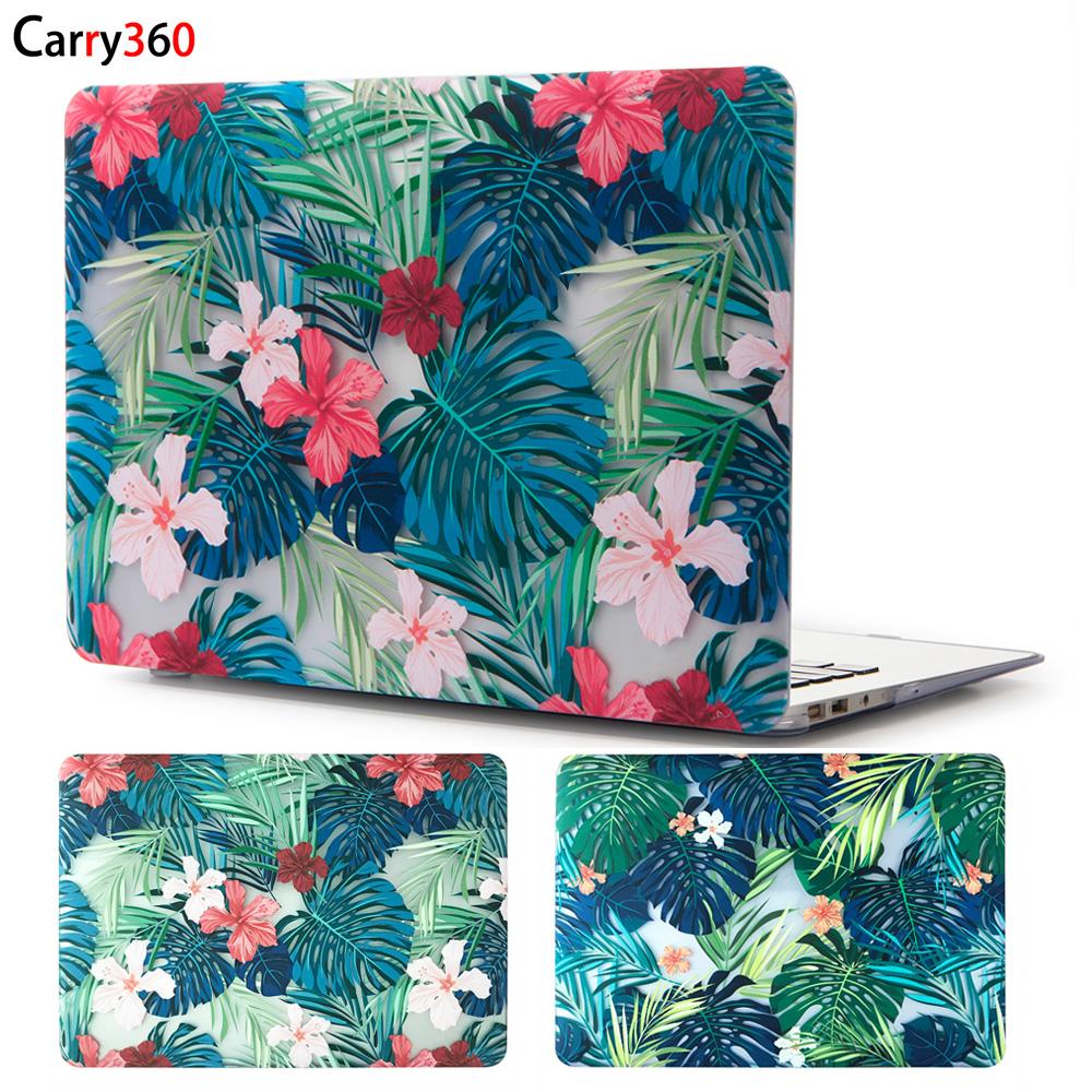 [해외]Carry360 아름다운 꽃잎 노트북 케이스 Macbook Air Pro Retina 11 12 13 15 for New Mac book Pro 13 터치 바/Carry360 Beautiful Floral Leaves Laptop Case for Apple Ma