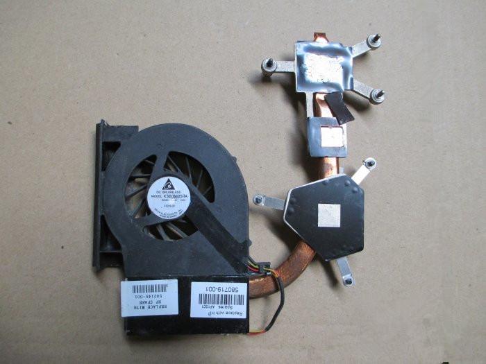 [해외]HP Compaq Heatsink 및 팬 CQ61 G61 용 원본 CQ71 G71 582145-001 580719-001/original  for HP Compaq Heatsink and Fan  CQ61 G61 CQ71 G71 582145-001 580719-