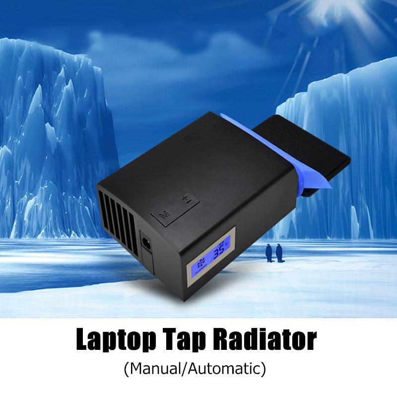 [해외]미국 플러그 노트북 배기 라디에이터 컴퓨터 팬 USB 자동 수동 새로운 속도 조절 노트북 쿨러 LCD 온도/US Plug Notebook Exhaust Radiator Computer Fan USB Automatic Manual New Speed Adjustab