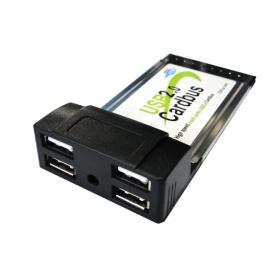 [해외]54mm 포트 USB 2.0 USB2.0 4 포트 PCMCIA의 54mm PC 카드 버스의 latop 노트북 고속 어댑터/54mm port USB 2.0 USB2.0 4 Ports PCMCIA 54mm PC CardBus Latop Notebook high sp