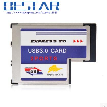 [해외]USB에 PCI-E PCI Express 카드 익스프레스 카드 54mm의 34mm T 형 노트북 노트북 3.0 3 포트 어댑터 로우 프로파일 짧은 체형/PCI-E PCI Express Card ExpressCard 54mm 34mm T type to USB 3.