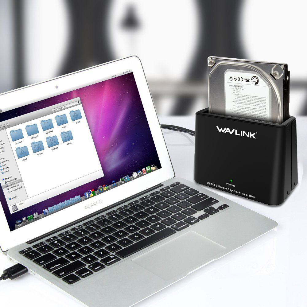 [해외]Wavlink 범용 6TB USB3.0 - 외부 SATA 하드 드라이브 도킹 스테이션 (2.5 / 3.5 인치 HDD / SSD / UASP 12V 전원 어댑터 용)/Wavlink Universal 6TB USB3.0 to External SATA Hard Dr