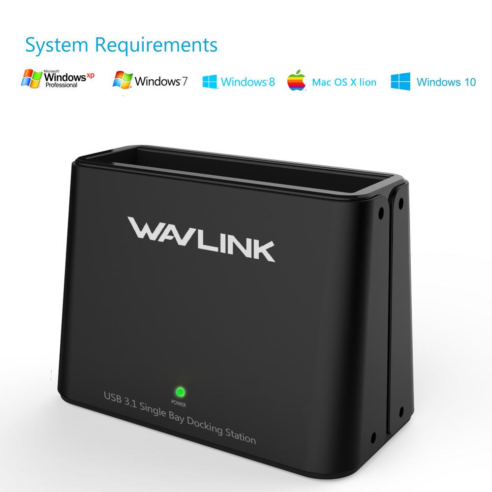 [해외]Wavlink 2.5 및 3.5 용 범용 하드 드라이브 HDD 도킹 스테이션 및 SATA I / II / III (6Gbps) USB 3.1 Type-C SATA DC / Windows XP 7 지원/Wavlink Universal Hard Drive HDD D