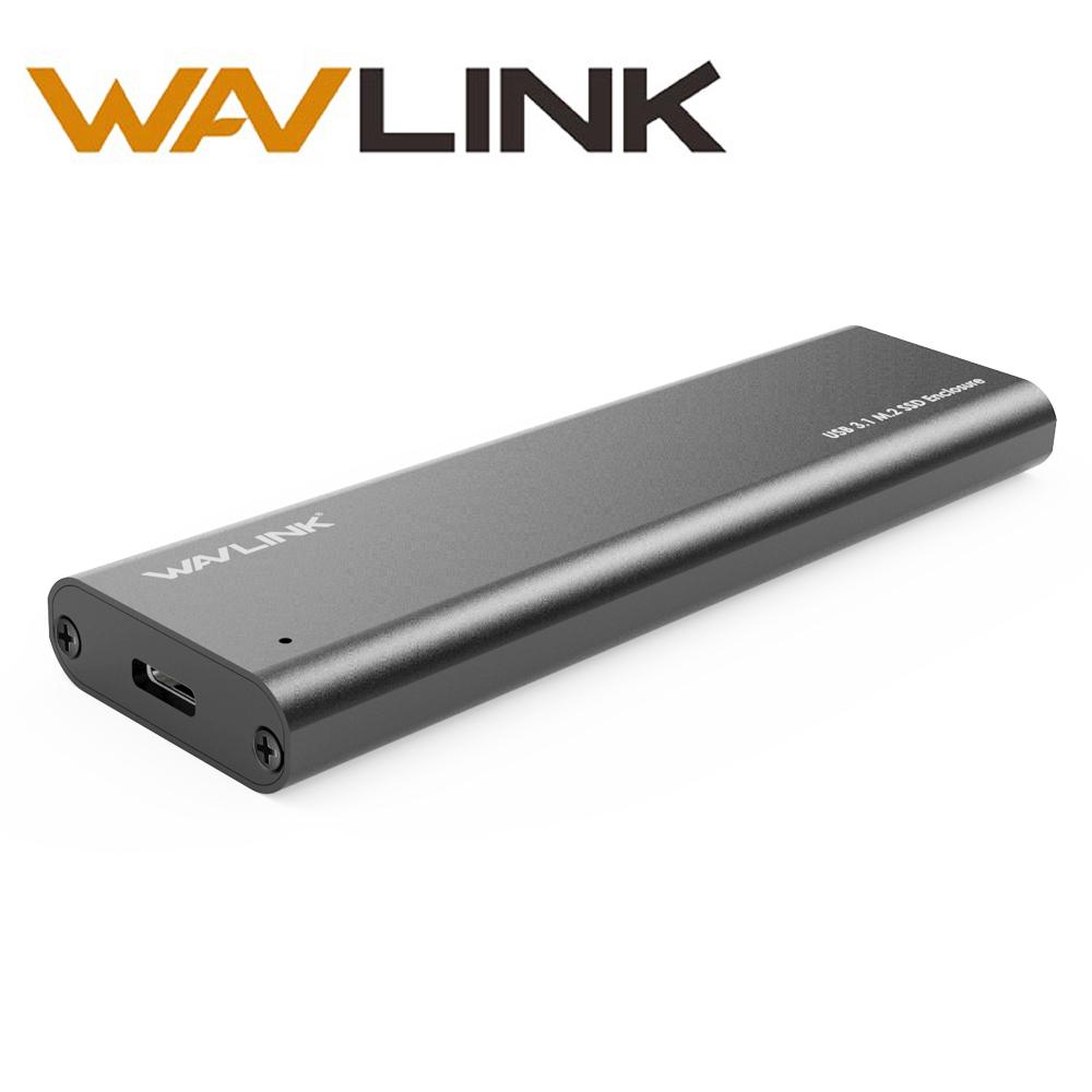 [해외]Wavlink 알루미늄 USB3.1 TypeC Gen 2 ~ NGFF M.2 SSD 인클로저 NGFF SATA 하드 드라이브 어댑터 USB 10Mbps M2 외장 박스/Wavlink Aluminum USB3.1 TypeC Gen 2 to NGFF M.2 SSD