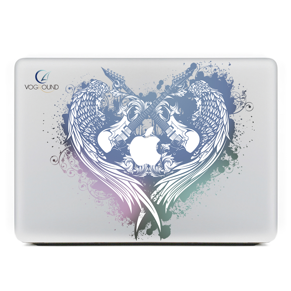 [해외]?음악 기타 스티커 Decal Heart for Mac macbook Air Pro Retina 11 12 13 15 노트북 Mac 용 13.3 인치 07/ Music Guitar Sticker Decal Heart Shapped For Apple macbook