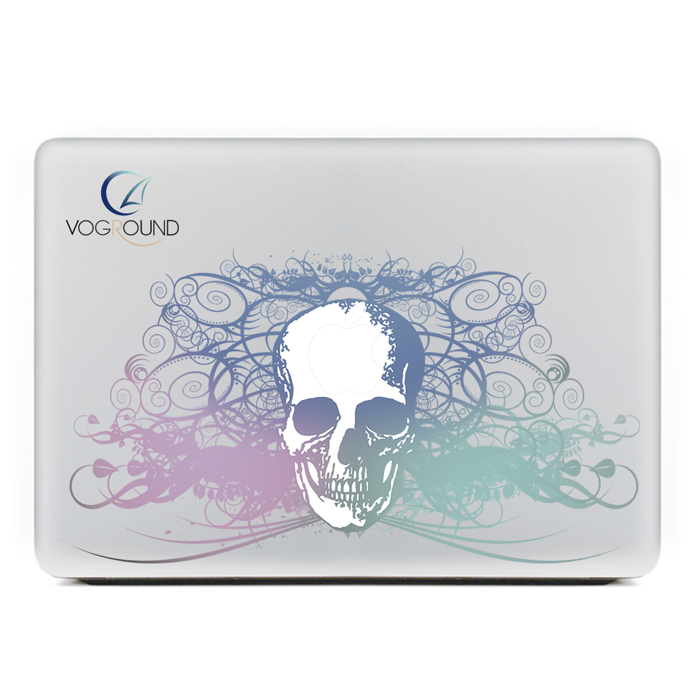 [해외]?무서운 해골 해골 08 스킨 스티커 데칼 For Apple macbook Air Pro Retina 11 12 13 15 노트북 Mac 용 13.3 인치/ Scary Skull Skeleton 08 Skin Sticker Decal  For Apple macb