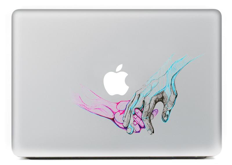 [해외]손에 손을 맥북 프로에 대한 성격 비닐 데칼 노트북 스티커 13 인치 만화 노트북 맥북에 대한 피부 쉘/Hand in hand Personality Vinyl Decal Laptop Sticker for macbook Pro Air 13 inch Cartoon
