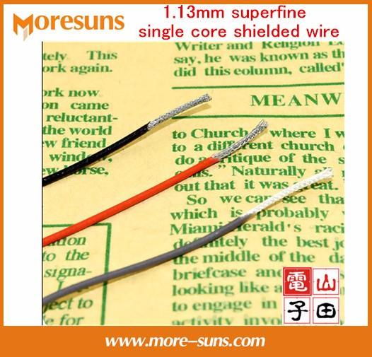 [해외] 20M / lot 1.13mm 초극 단일 코어 쉴드 와이어 오디오 비디오 신호 와이어 얇은 동축 케이블 은색 도금 RF1.13/Free Ship 20M/lot 1.13mm superfine single core shielded wire Audio Video s