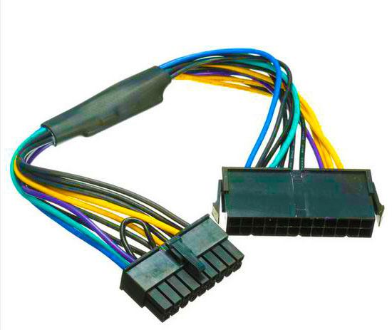 [해외]새로운 PSU ATX 전원 변환기 케이블 24 핀 18 핀 커넥터 케이블 (Z620 워크 스테이션 마더 보드 용) 18AWG/New PSU ATX Power Conver Cable 24 Pin to 18 Pin Connector cables for Z620 Wo