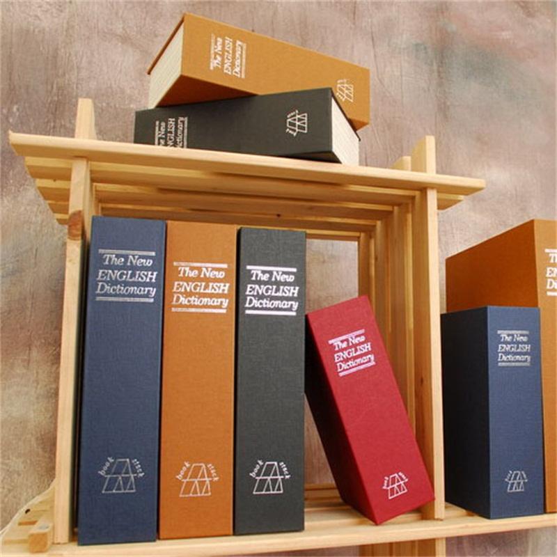 휴대용 크기 s 비밀 번호 숨겨진 안전 상자 시뮬레이션 영어 사전 strongbox 스틸 홈 여행 보석 안전 보관 케이스