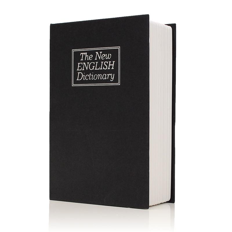 [해외]새로운 금속 + 종이 접시 사전 보안 비밀 안전 열쇠 잠금 현금 돈 보석 로커 내구성 품질/NEW Metal + Paper Plate Dictionary Book Secret Hidden Security Safe Key Lock Cash Money Jewelle