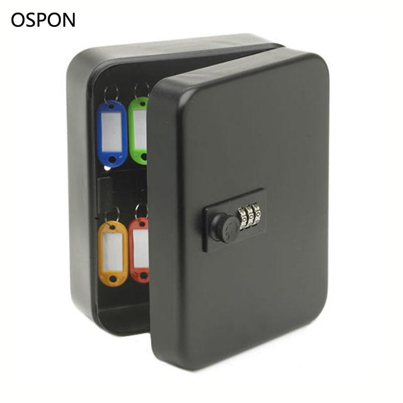 [해외]벽 마운트 키 캐비닛 암호 잠금 보안 키 상자 저장소 상자 36 키 카드를 포함 회사 홈 사무실 매달려 자동차 키/Wall Mounted Key Cabinet Password Lock Security Keybox Storage Box Contains 36 key