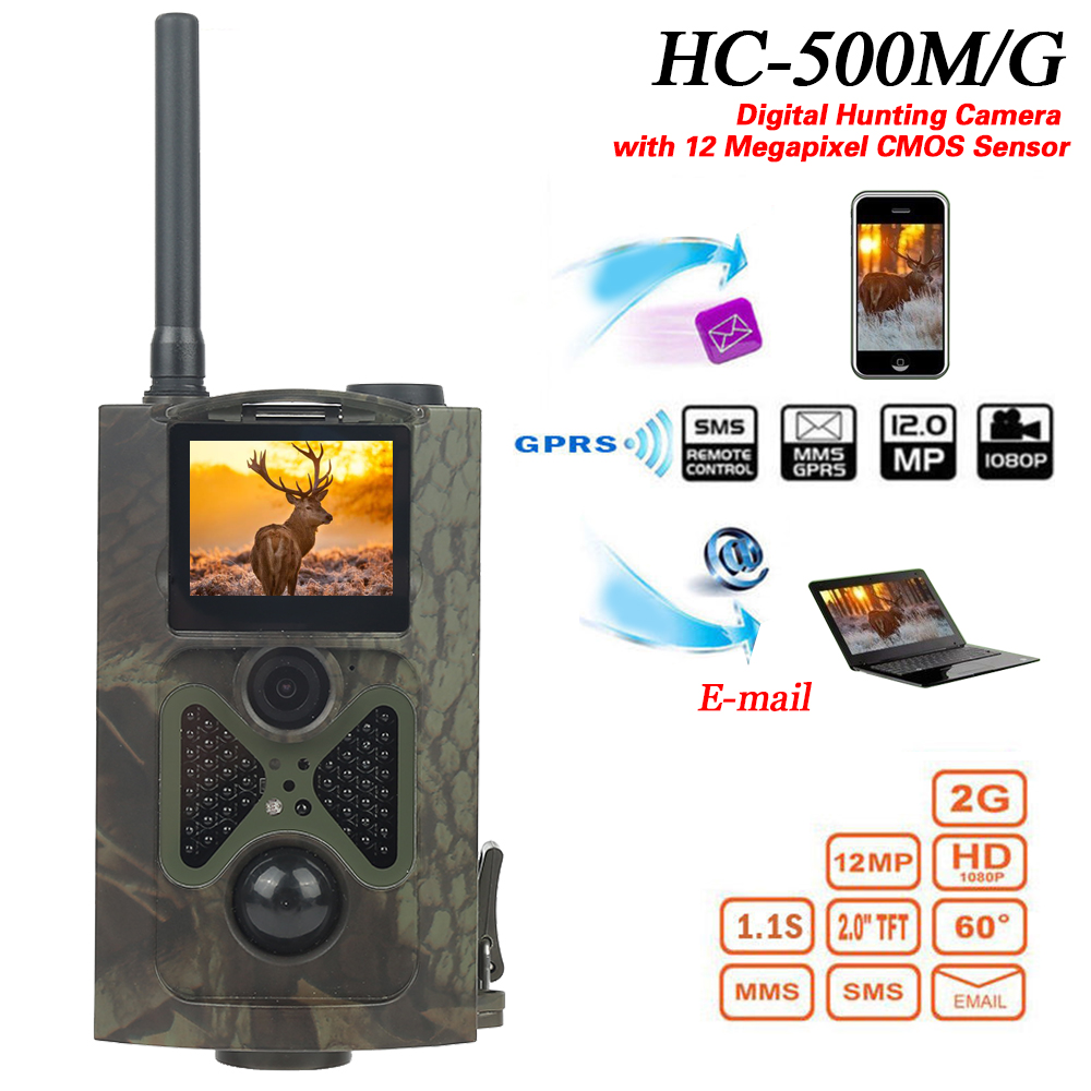 [해외]새로운 HC - 500m 12MP 야외 HD 야생 동물 사냥 흔적 디지털 동물 비디오 카메라 GPRS IR 야간 투시경/New HC-500m 12MP Outdoor HD Wildlife Hunting Trail Digital Animal Video Cameras