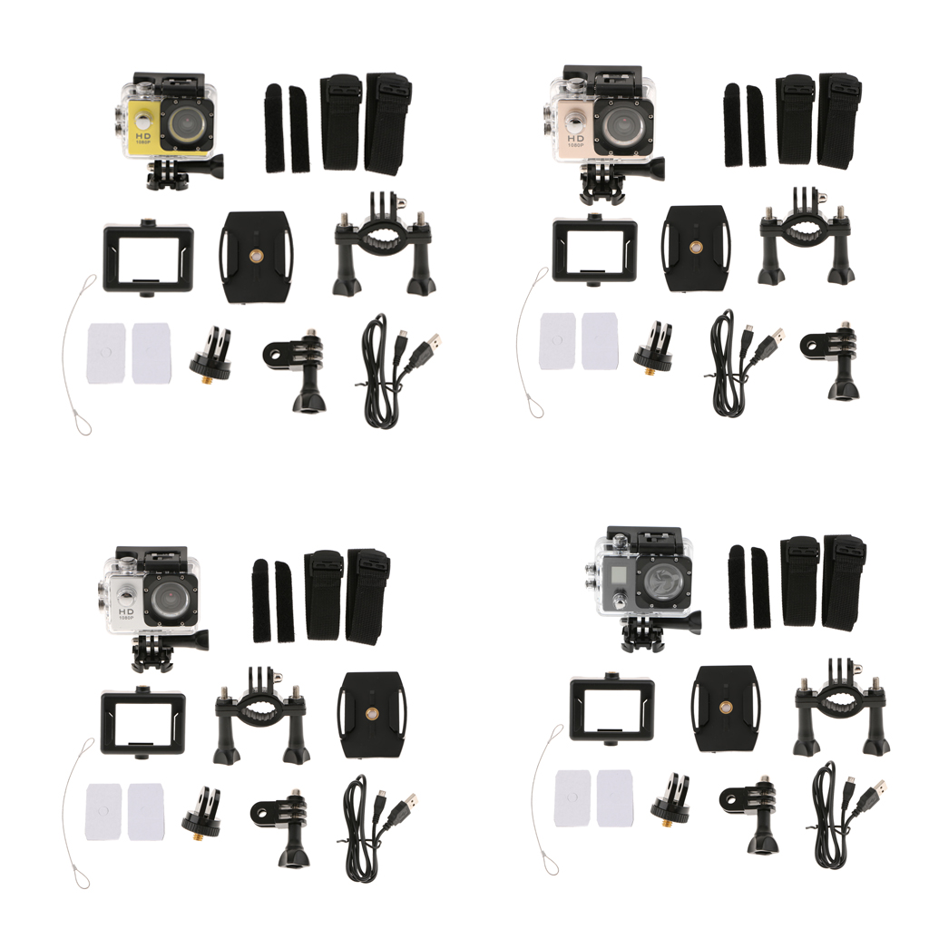[해외]풀 HD 1080P 스포츠 캠 액션 카메라 비디오 레코더 방수 블랙/Full HD 1080P Sports Cam Action Camera Video Recorder Waterproof  Black