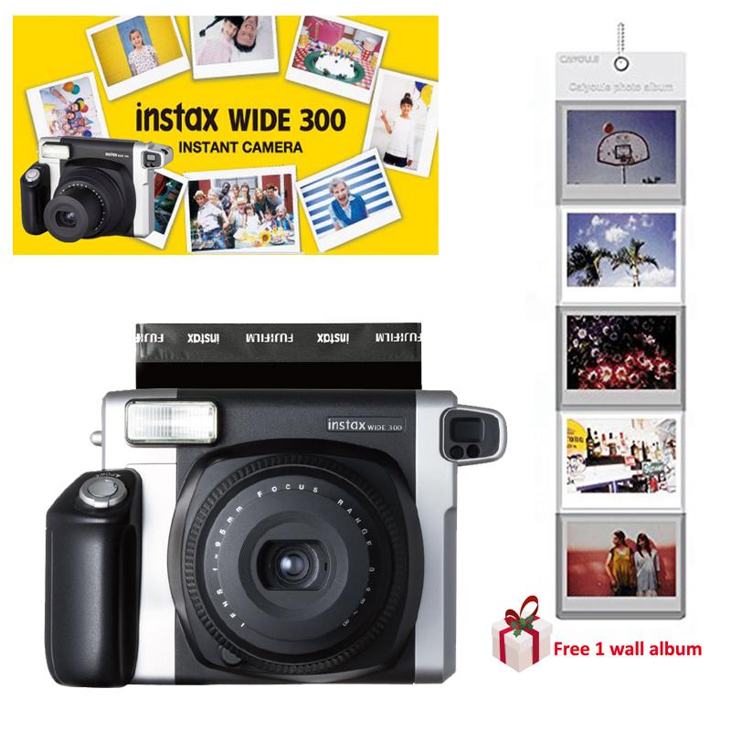 [해외]100 % 정통 Fuji Fujifilm Instax WIDE 300 즉석 사진 필름 카메라 Black + Free Gift (Wall Album)/100% Authentic FuJI Fujifilm Instax WIDE 300 Instant Pictures P