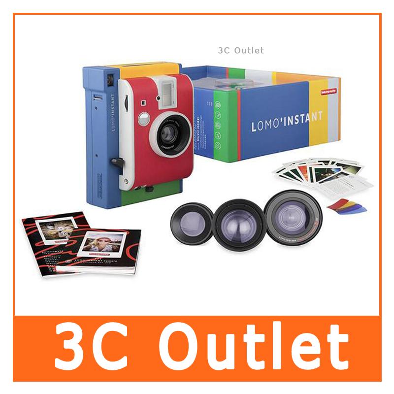 [해외]로모 그래피 온라인 스토어 (로모 그래피 온라인 숍에서 구매 가능합니다.) 필름 카메라/Lomography Lomo&Instant Murano Edition li800s17 Instant Film Camera +3 Lenses/Colored Gel Filters