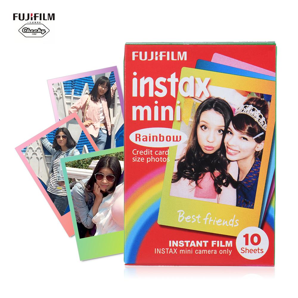 [해외]10-100 매 Fujifilm Instax Mini 필름 인화지 Instant Print 무지개 사진 앨범 for Fujifilm Instax Mini 7s / 8 / 25 / 90 / 9/10-100 Sheets Fujifilm Instax Mini Film