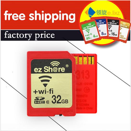 [해외]100 % 원래 실제 용량 와이파이 공유 메모리 SD 카드 8기가바이트 16기가바이트 32기가바이트 클래스 10 SDHC cartao 드 memoria 카메라 카드/100%Original Real Capacity WIFI Share Memory SD Card 8