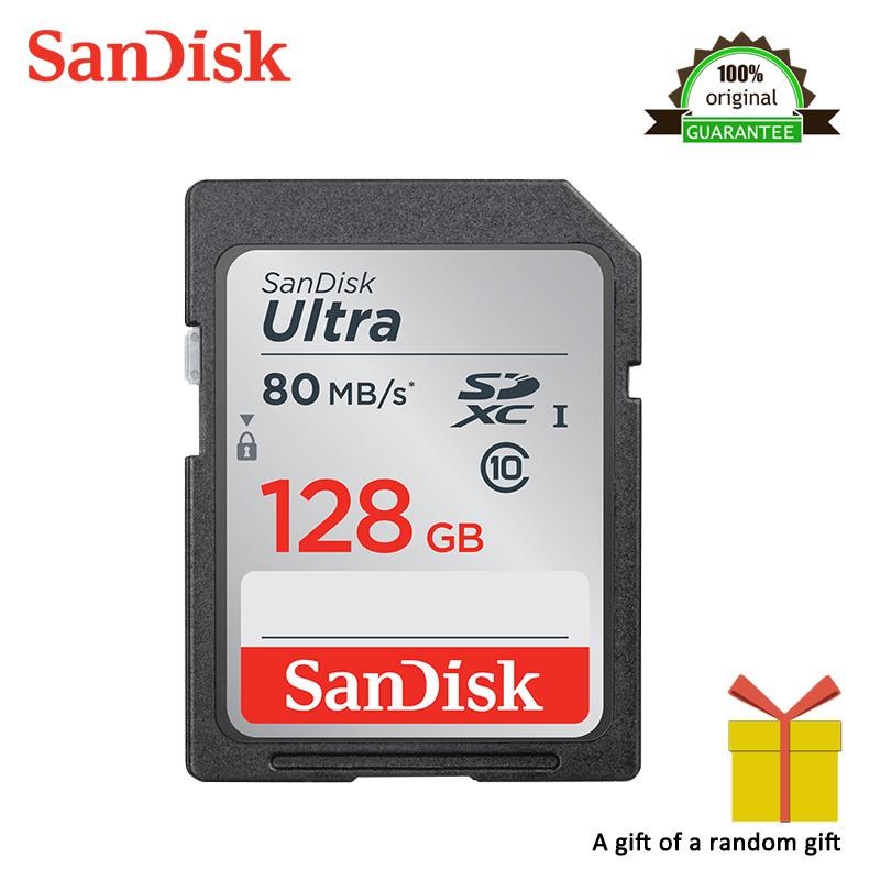 [해외]높은 속도 샌디 스크 SD 카드 Class10 128 기가 바이트 TF 카드 메모리 카드 80 메가 바이트 / S 카메라에 대 한 원래 플래시 실제 용량 스틱/High Speed Sandisk SD Card Class10 128GB TF Card Memory C