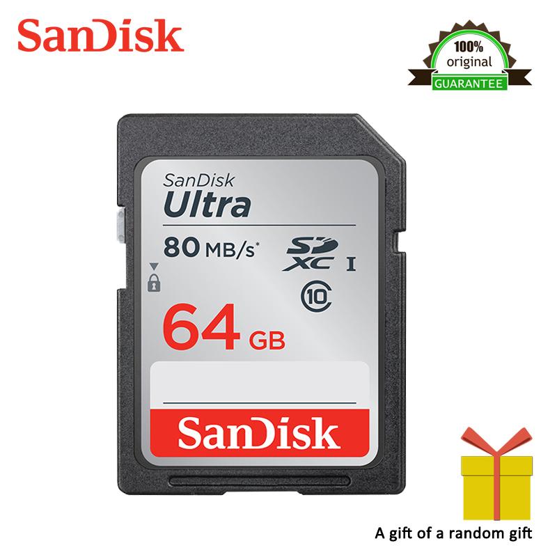 [해외]높은 속도 샌디 스크 SD 카드 Class10 64 기가 바이트 TF 카드 메모리 카드 80 메가 바이트 / S 카메라에 대 한 원래 플래시 실제 용량 스틱/High Speed Sandisk SD Card Class10 64GB TF Card Memory Car