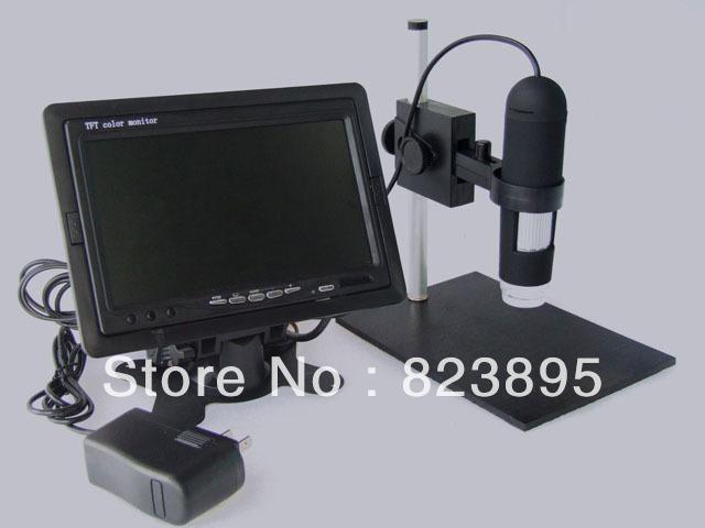 Hd 800x av 디지털 현미경 모니터 cmos borescope 8 led 적용 가능한 av 포트 모니터 lcd tv