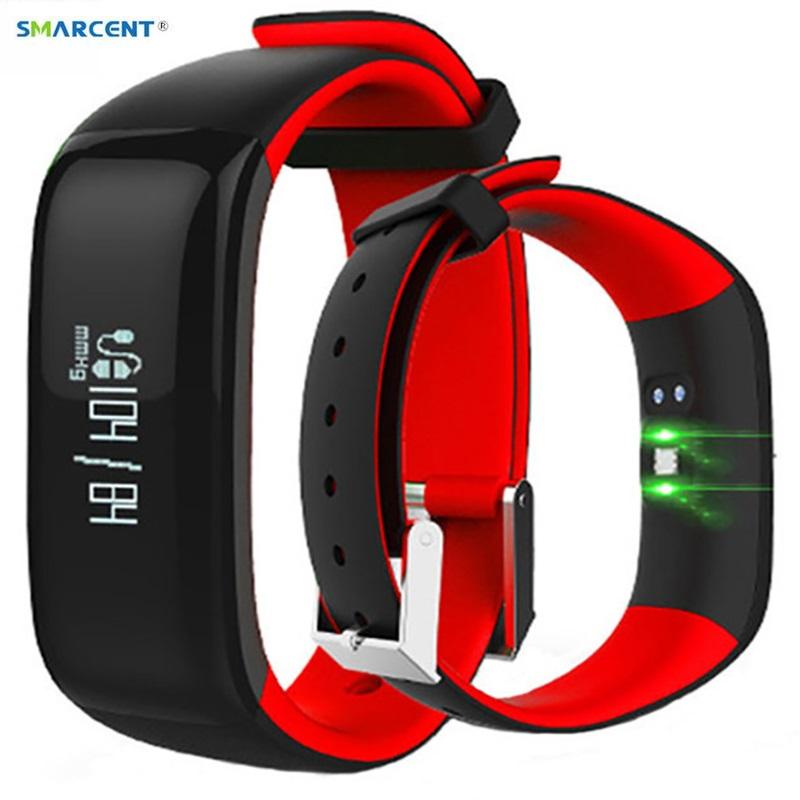 [해외]P1 스마트 밴드 활동 추적기 Smart Watch 혈압계 스마트 밴드 보수계 iOS Andriod 용 팔찌 피트니스 팔찌/P1 Smartband Activity Tracker Smart Watch Blood Pressure Monitor Smart Band P