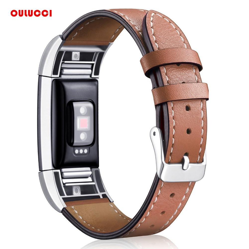[해외]교체 용 Fitbit 충전 2 밴드 가죽 스트랩 밴드 2 호환 Smart Fitness Watch 밴드 스테인리스 프레임/Replacement Fitbit Charge 2 Bands Leather Straps Band Interchangeable Smart Fi