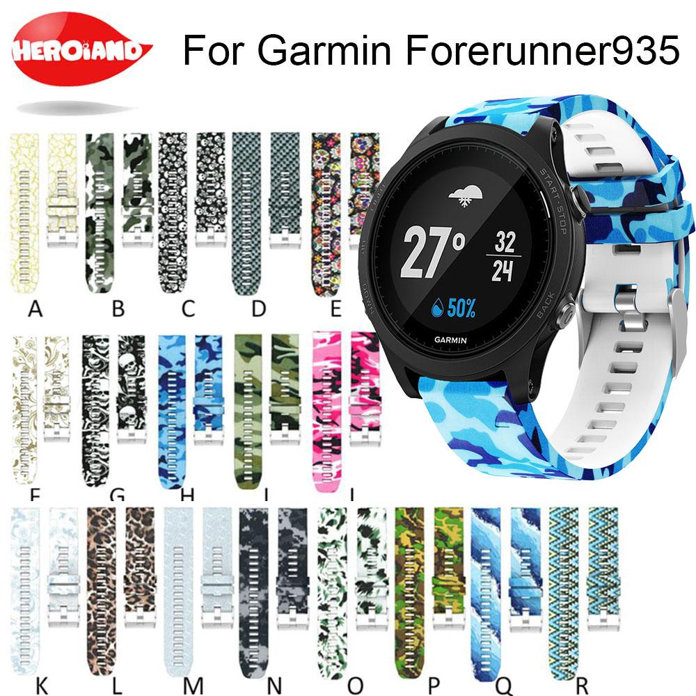 [해외]시계 밴드 Garmin Fenix ??5 forerunner 935 GPS Watchband 인쇄 패션 스포츠 실리콘에 대 한 빠른 릴리스 손목 밴드 손목 시계 스트랩/Watch band Quick Release Wrist Band Watch Strap for