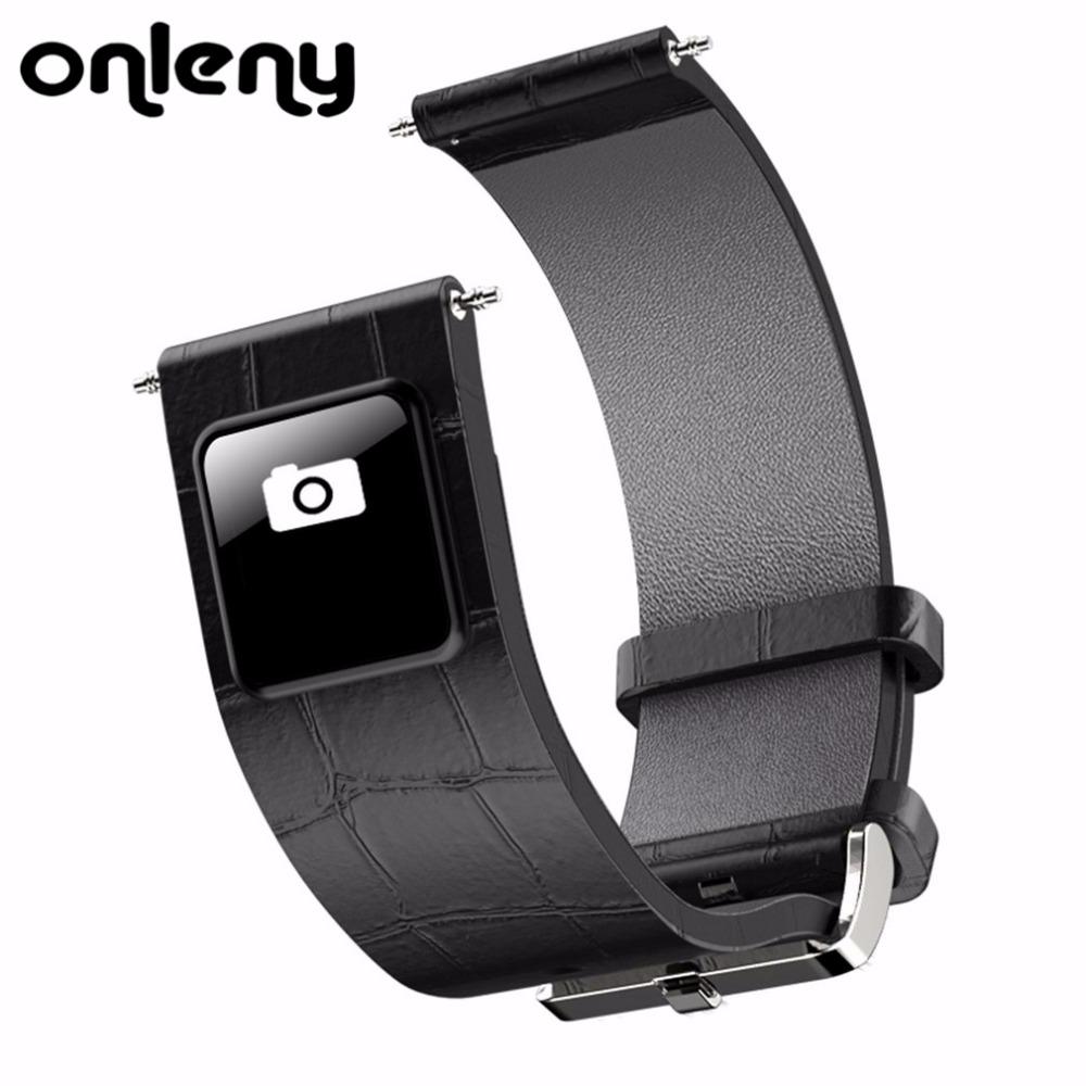 [해외]Onleny H1 20mm 22mm 시계 밴드 블루투스 4.0 스마트 밴드 팔찌 IOS 0.42 & OLED 디스플레이 가죽 시계 밴드 스트랩? ? ???? ??/Onleny H1 20mm 22mm Watch Band Bluetooth 4.0 Smart