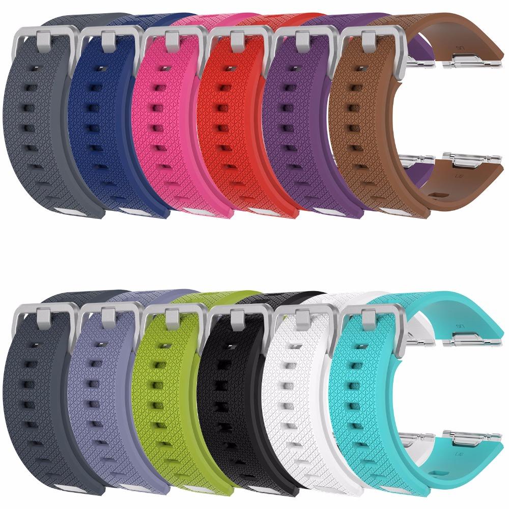 [해외]새로운 부드러운 스포츠 실리콘 교체 스트랩 Fitbit 이온 스마트 팔찌 밴드 팔찌 시계 BandStainless 철강 금속 걸쇠/New Soft Sport Silicone Replacement Strap For Fitbit ionic Smart Wristban