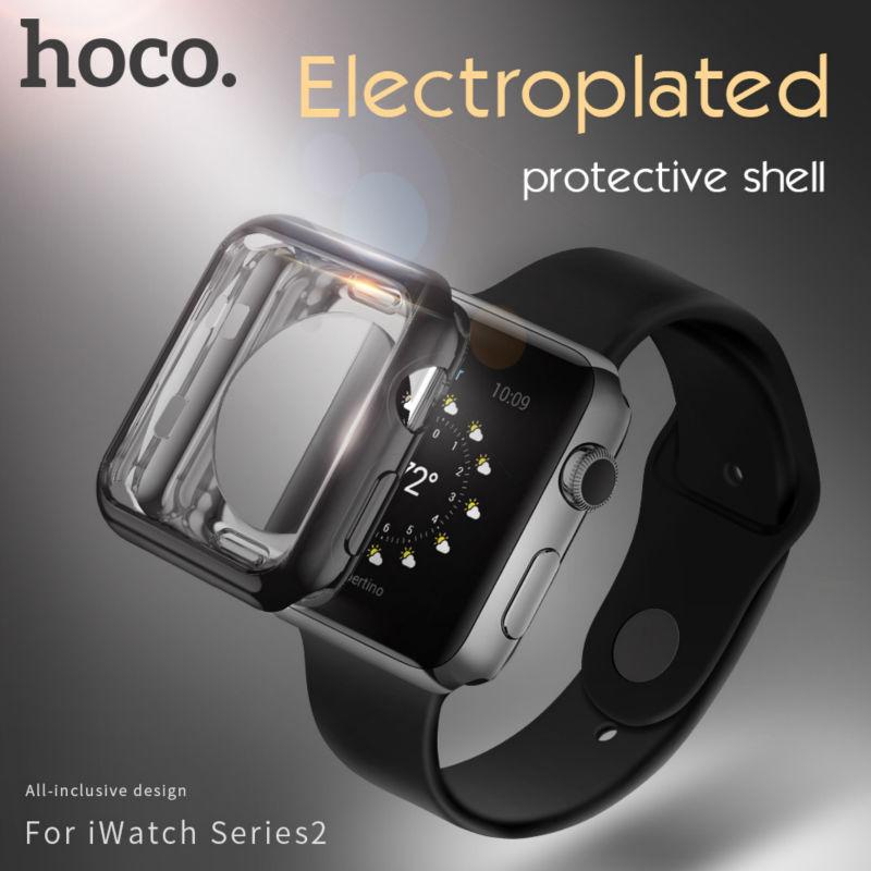 [해외]원래 HOCO TPU 보호 케이스 Apple 시계 iWatch 시리즈 2 다채로운 도금 커버 쉘 38 mm 42 mm 완벽하게 일치하는 4 색/ORIGINAL HOCO TPU protective Case for Apple Watch iWatch series 2