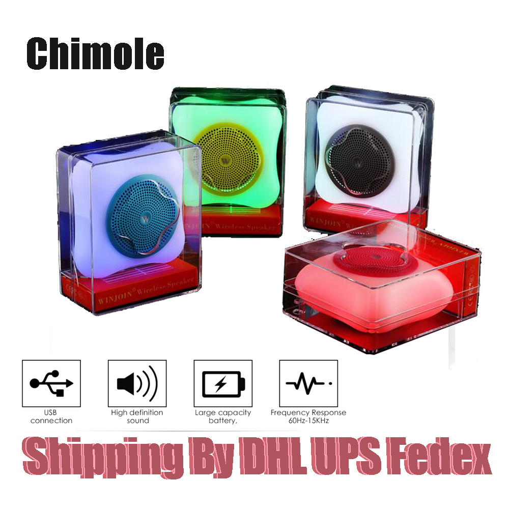 [해외]120pcs 미니 블루투스 스피커 휴대용 무선 TF 카드 다채로운 LED 조명 HIFI 음악 플레이어 야외 스테레오 서브 우퍼/120pcs Mini Bluetooth Speaker Portable Wireless TF Card Colorful LED lights