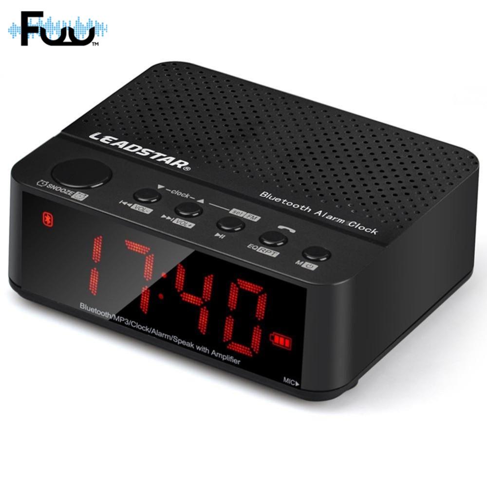 [해외]FUU 다기능 무선 미니 시계 알람 블루투스 빛나는 시계 알람 카드 휴대용 지원 TF 카드 놀이 음악 스피커/FUU Multifunctional Wireless Mini Clock Alarm Bluetooth Luminous Clock Alarm Card Por