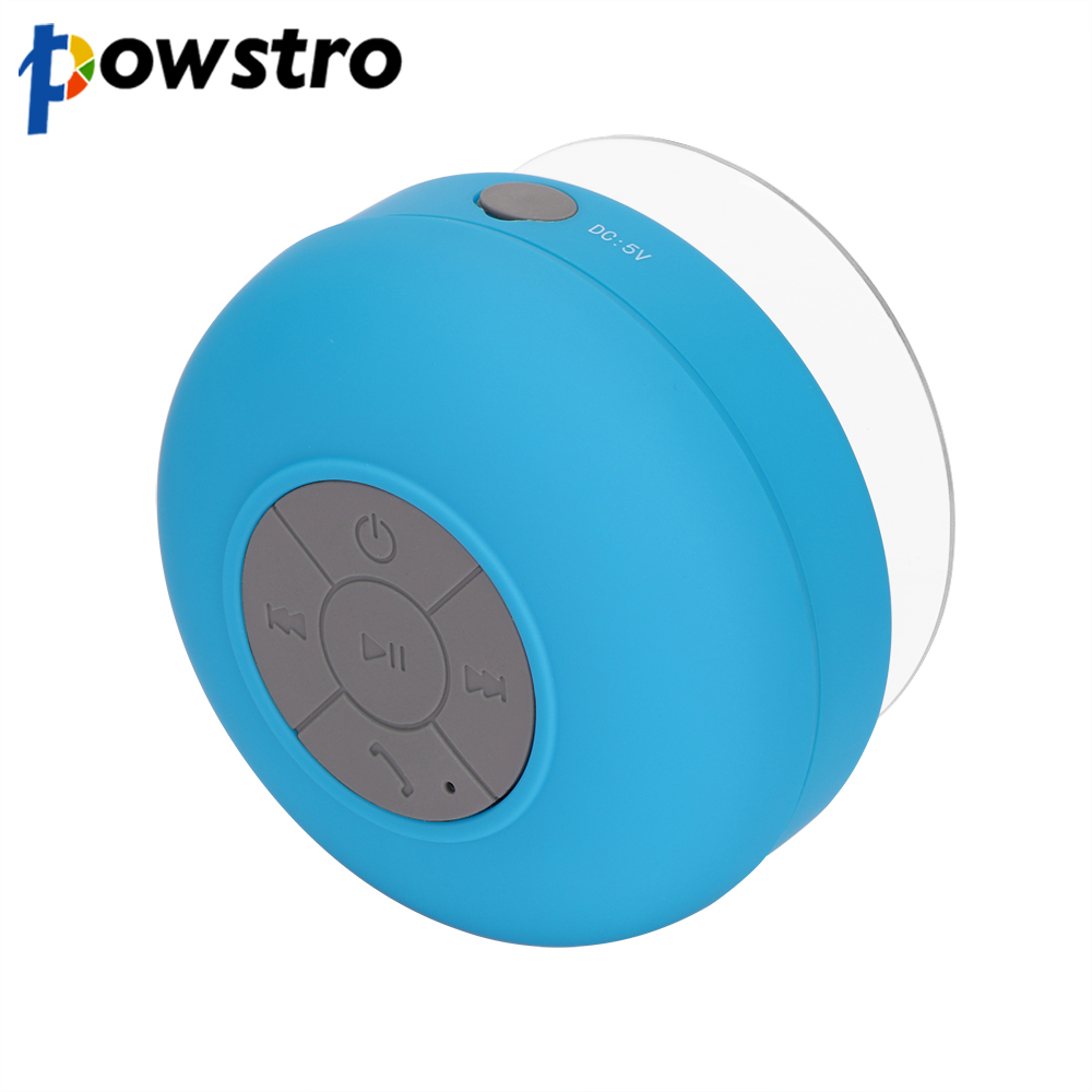 [해외]Powstro 블루투스 스피커 핸즈프리 전화 방수 샤워 무선 휴대용 미니 귀여운 자동차 스테레오베이스 사운드 스피커/Powstro Bluetooth Speakers Hands Free Phone Waterproof Shower Wireless Portable M