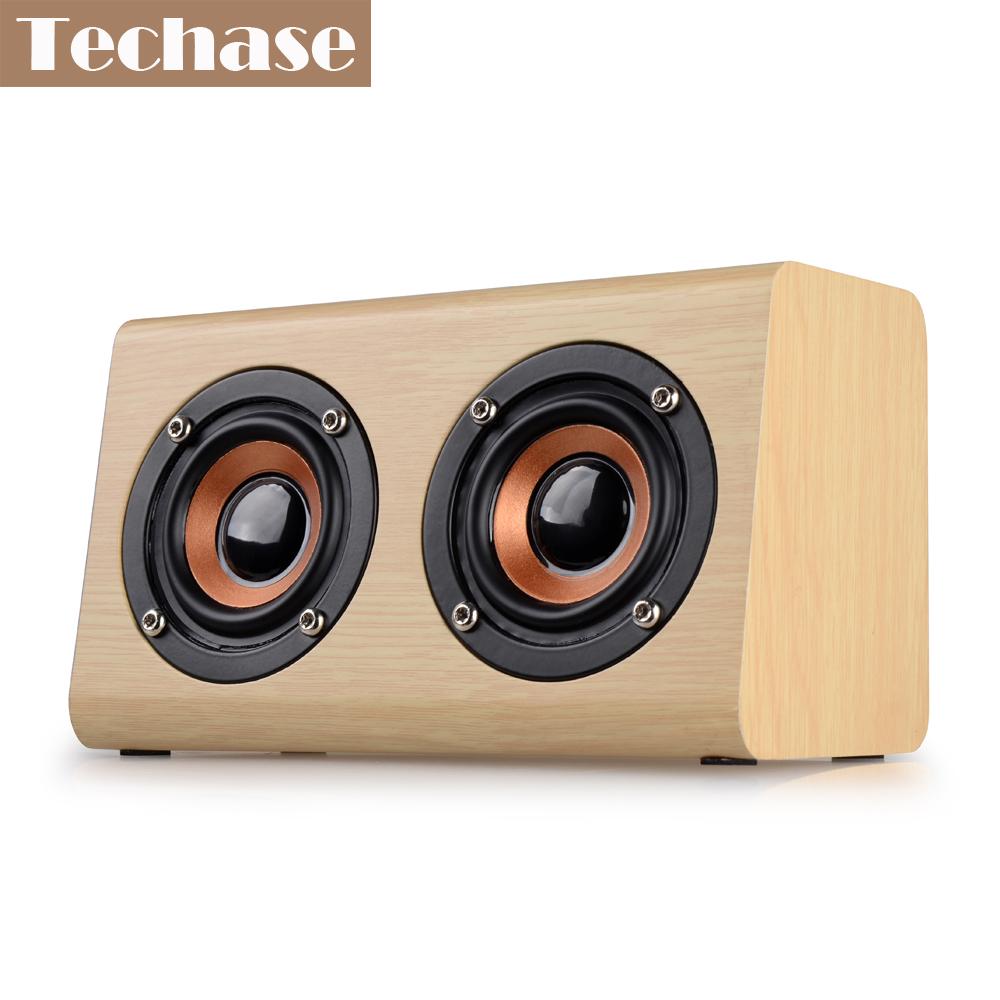 [해외]Techase Parlantes 블루투스 휴대용 스피커 Caixa De Som Para PC Haut Parleur 블루투스 나무 알토 falante TF 카드 / AUX-IN HiFi/Techase Parlantes Bluetooth Portable Speak