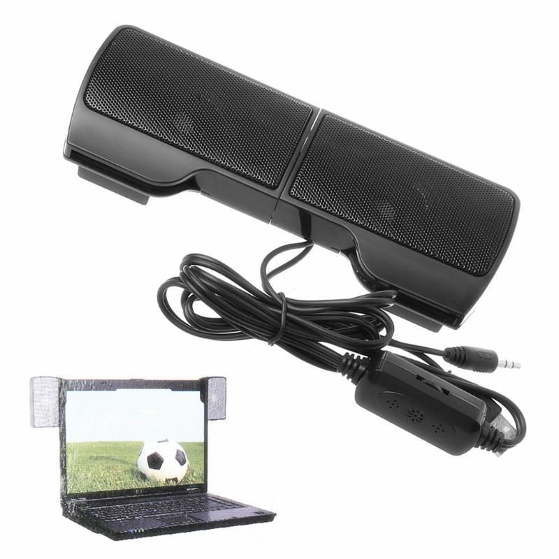 [해외]1 쌍 소형 휴대용 클립 온 USB 스테레오 스피커 라인 컨트롤러 사운드 바 랩탑 노트북 MP3 PC를ComputerClip R179T/1 Pair Mini Portable Clip-on USB Stereo Speakers line Controller Sound