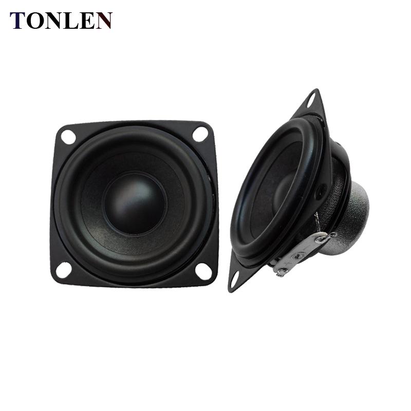 [해외]TONLEN 2PCS 2inch 10W 4 옴 오디오 스피커 전체 범위 스피커 컴퓨터 휴대용 조합 스피커 52mm 홈 시어터 서브 우퍼/TONLEN 2PCS 2inch 10 W 4 ohm Audio Speaker Full Range Speaker Computer