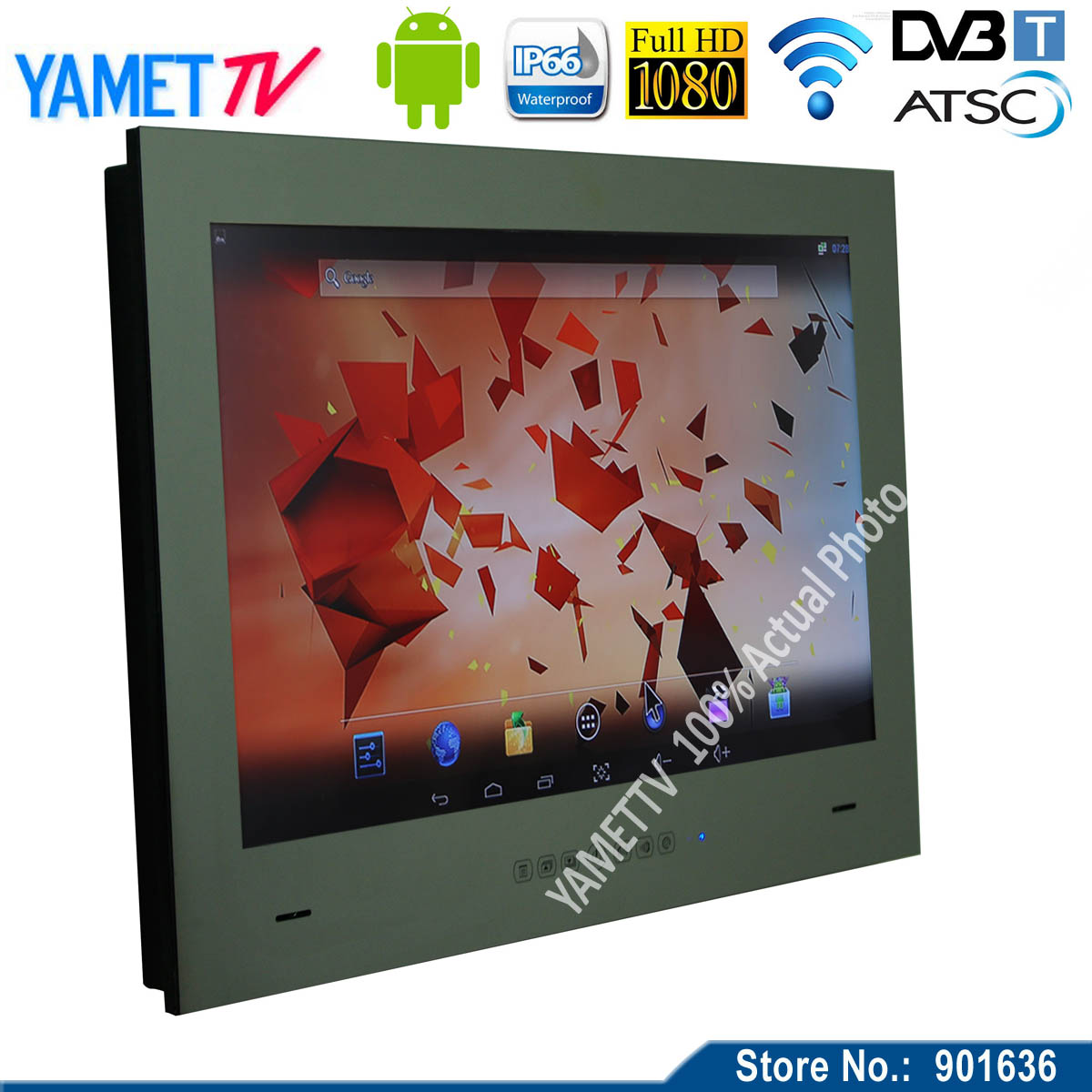 [해외] 15.6 인치? ? ???? ?? 4.2 욕실 TV IP66 방수 거울 TVWIFI HD HDMI/Free shipping 15.6 inch 안드로이드 4.2 bathroom TV IP66 Waterproof Mirror TVWIFI HD HDMI